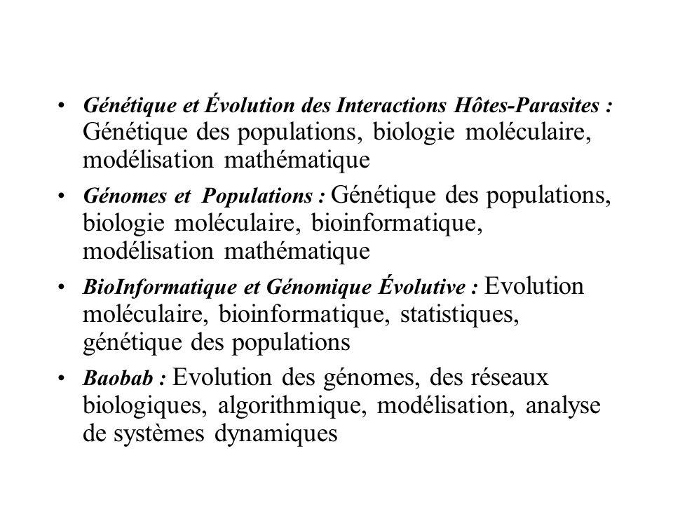 Génétique et Évolution des Interactions Hôtes-Parasites : Génétique des populations, biologie moléculaire, modélisation mathématique