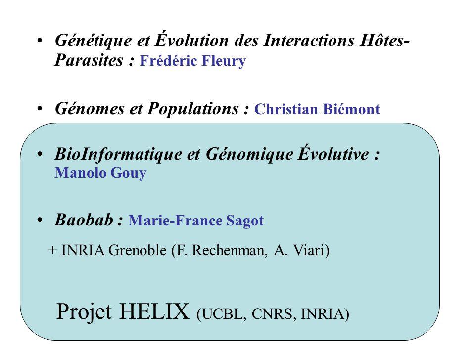 Projet HELIX (UCBL, CNRS, INRIA)