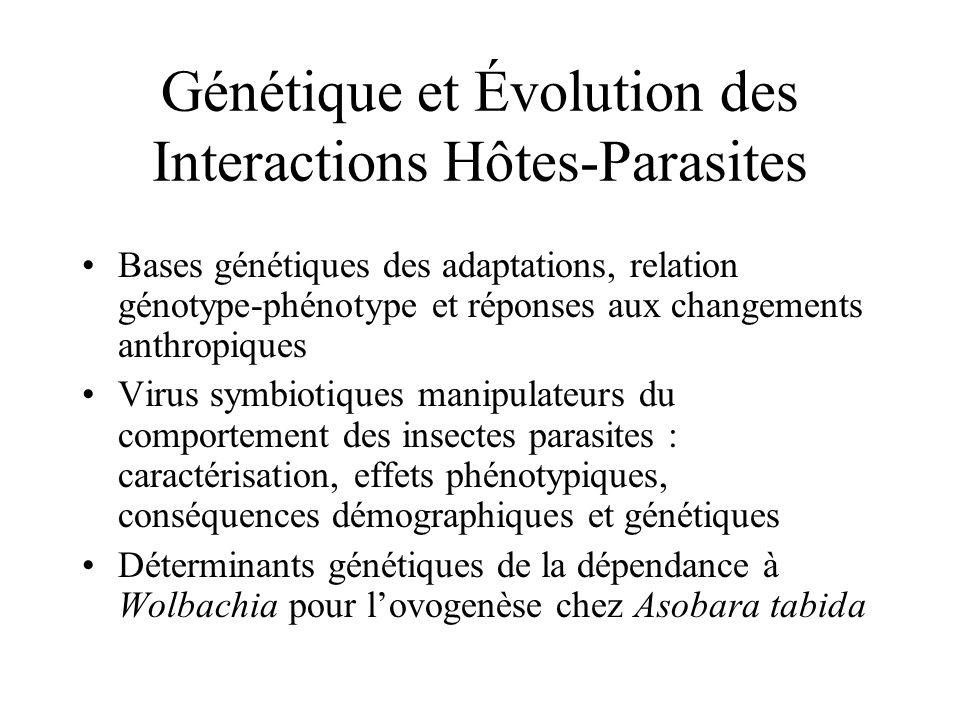 Génétique et Évolution des Interactions Hôtes-Parasites