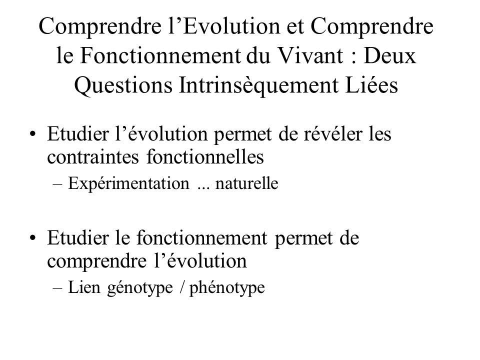 Comprendre l'Evolution et Comprendre le Fonctionnement du Vivant : Deux Questions Intrinsèquement Liées