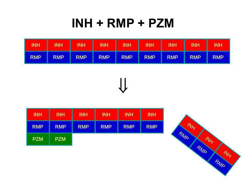 INH + RMP + PZM INH RMP  PZM INH RMP INH RMP