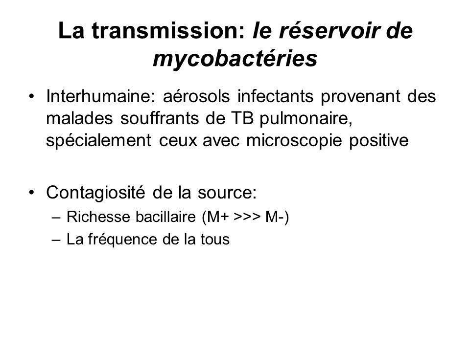 La transmission: le réservoir de mycobactéries