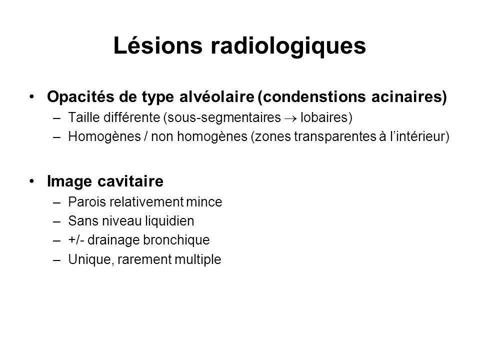 Lésions radiologiques