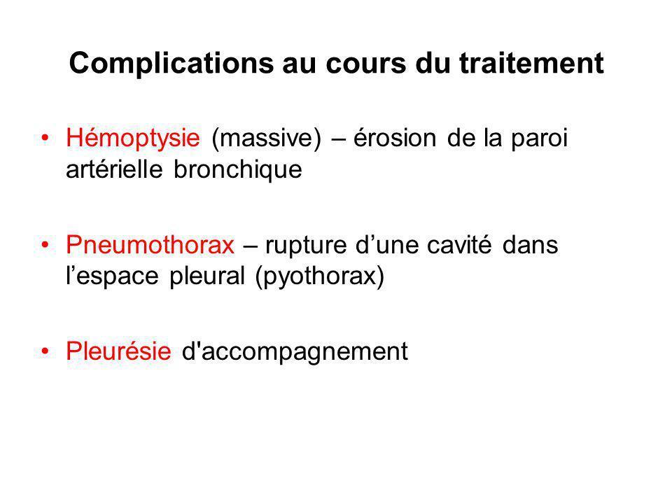Complications au cours du traitement