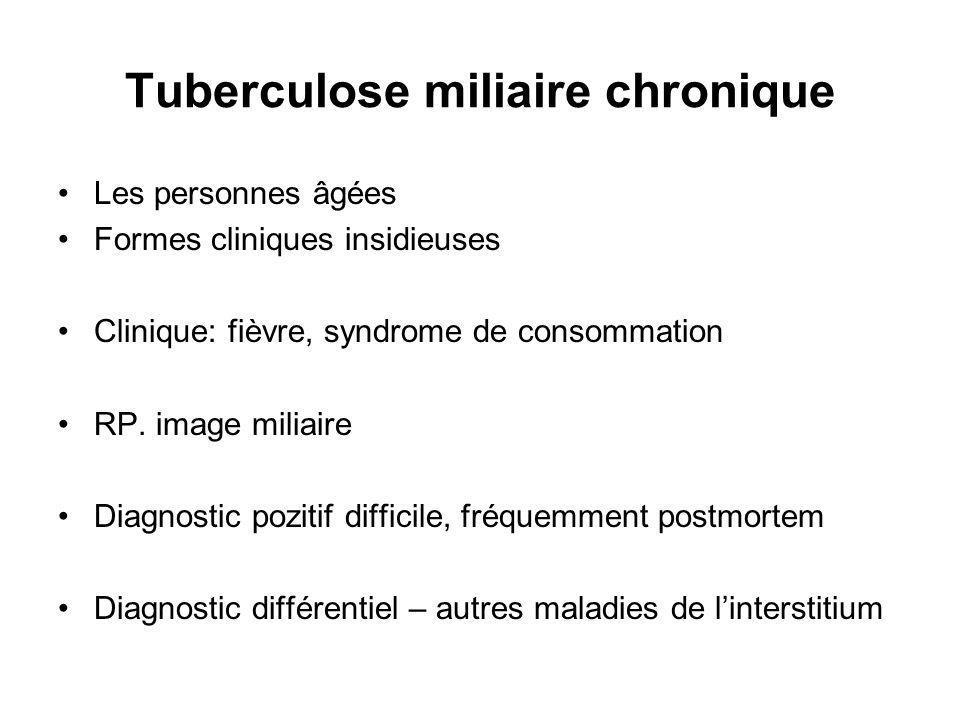 Tuberculose miliaire chronique