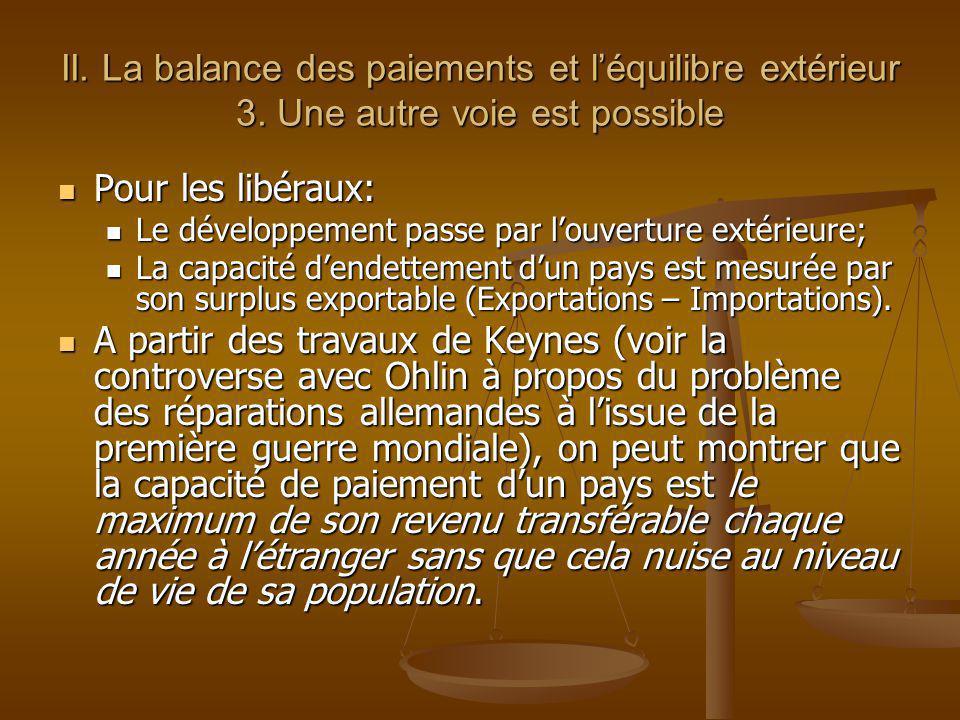 II. La balance des paiements et l'équilibre extérieur 3