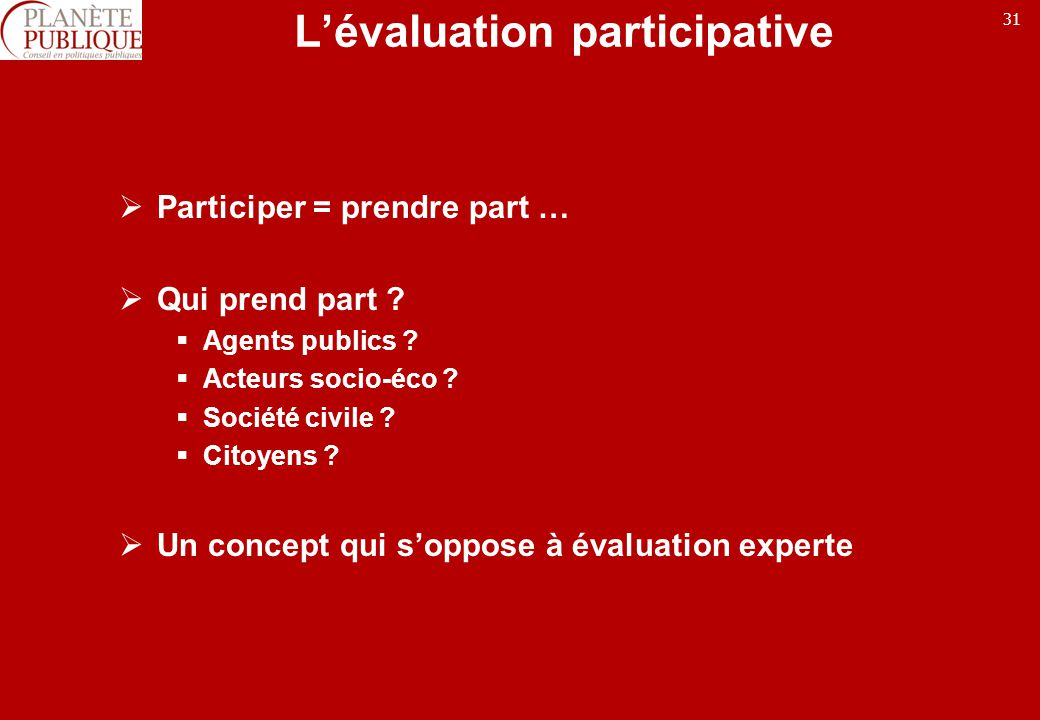 L'évaluation participative