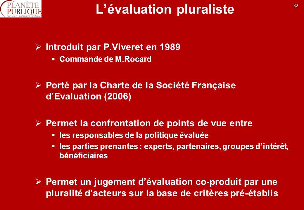 L'évaluation pluraliste