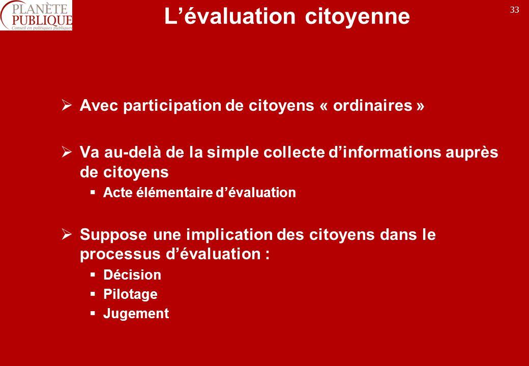 L'évaluation citoyenne