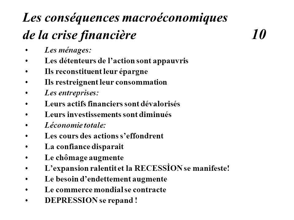 Les conséquences macroéconomiques de la crise financière 10