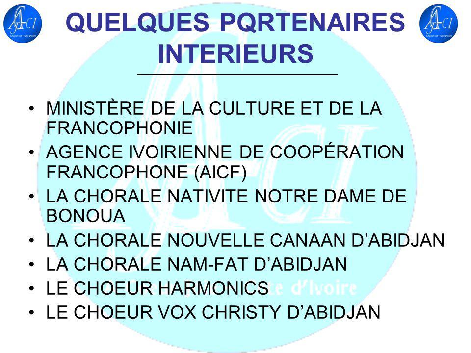 QUELQUES PQRTENAIRES INTERIEURS