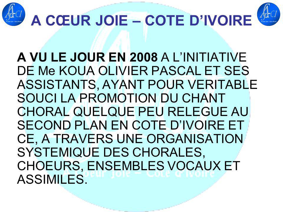 A CŒUR JOIE – COTE D'IVOIRE