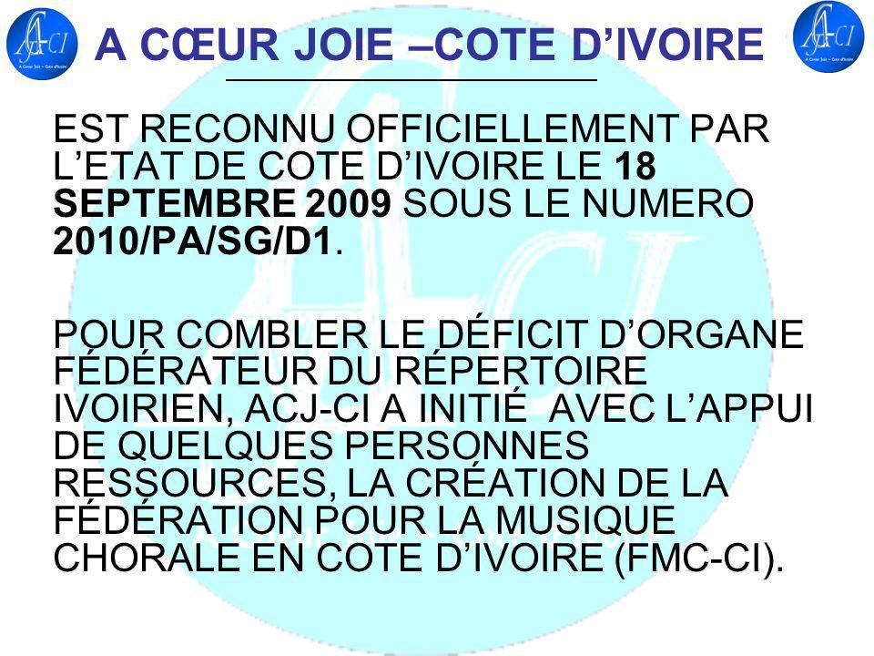 A CŒUR JOIE –COTE D'IVOIRE