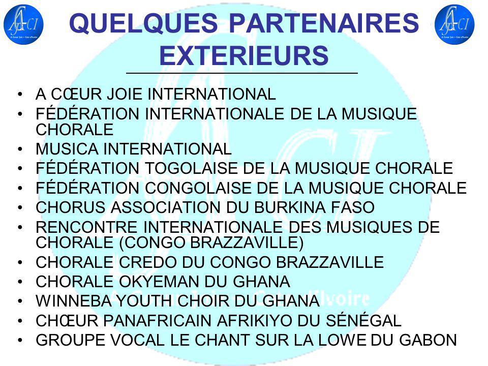 QUELQUES PARTENAIRES EXTERIEURS