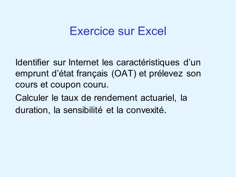 Exercice sur Excel