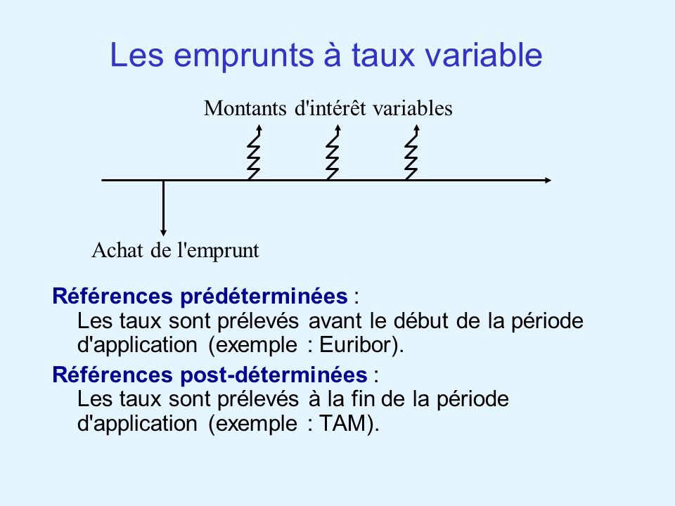 Les emprunts à taux variable