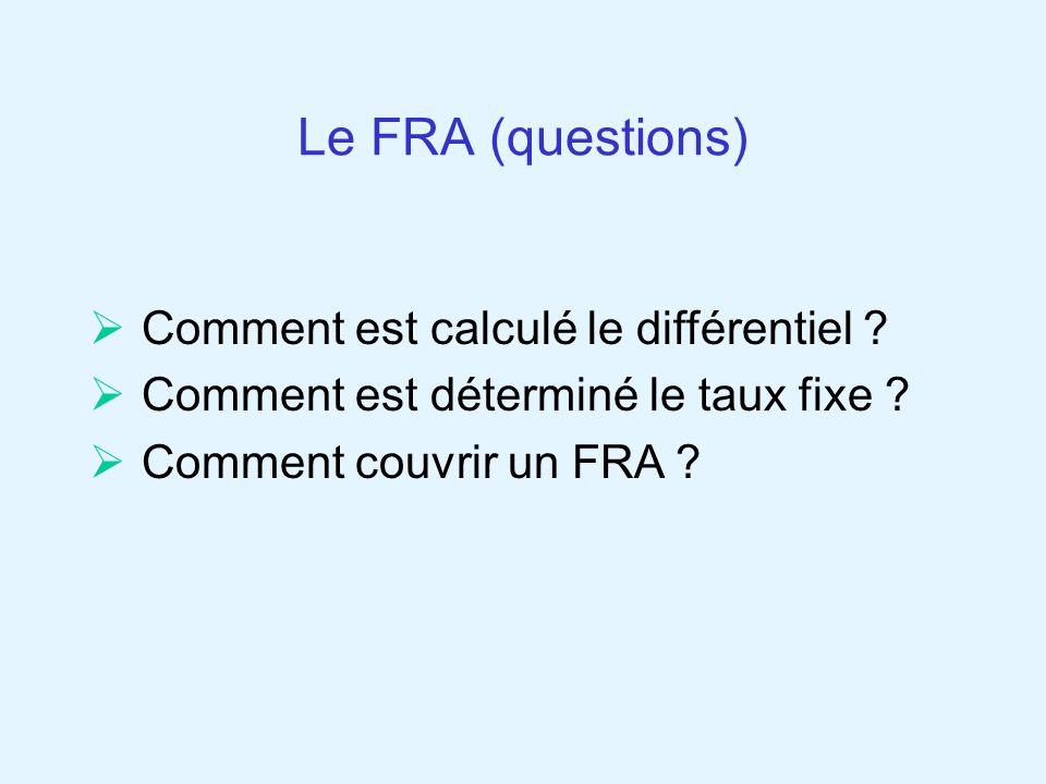 Le FRA (questions) Comment est calculé le différentiel