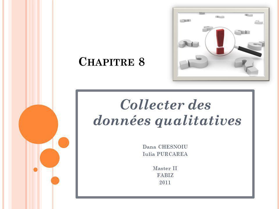 Collecter des données qualitatives