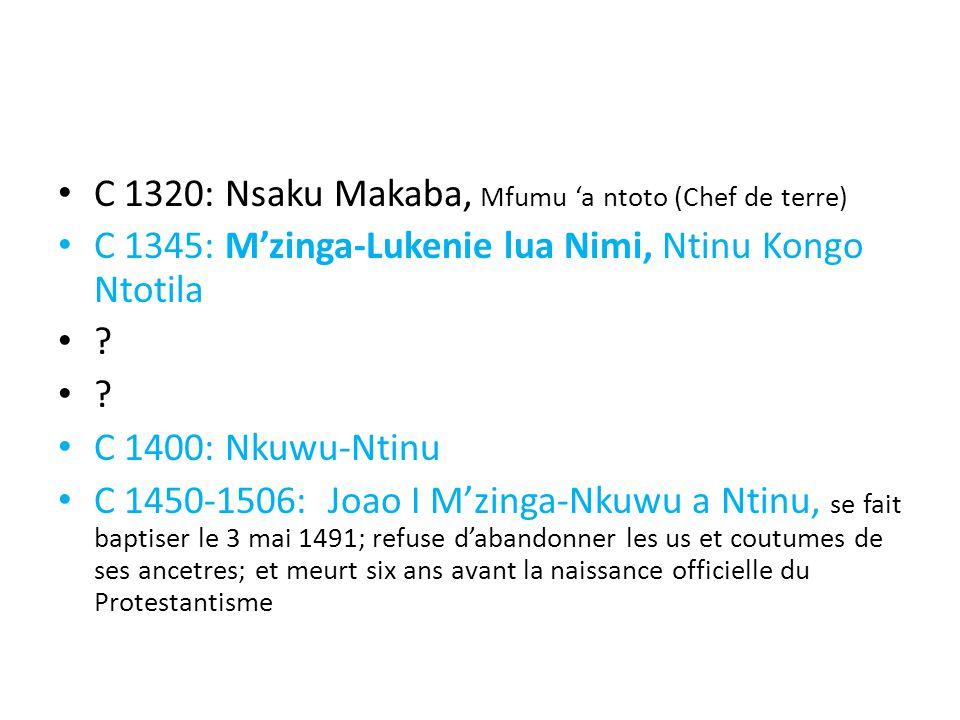 C 1320: Nsaku Makaba, Mfumu 'a ntoto (Chef de terre)