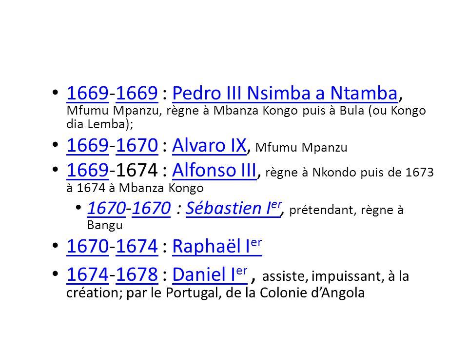 1669-1670 : Alvaro IX, Mfumu Mpanzu