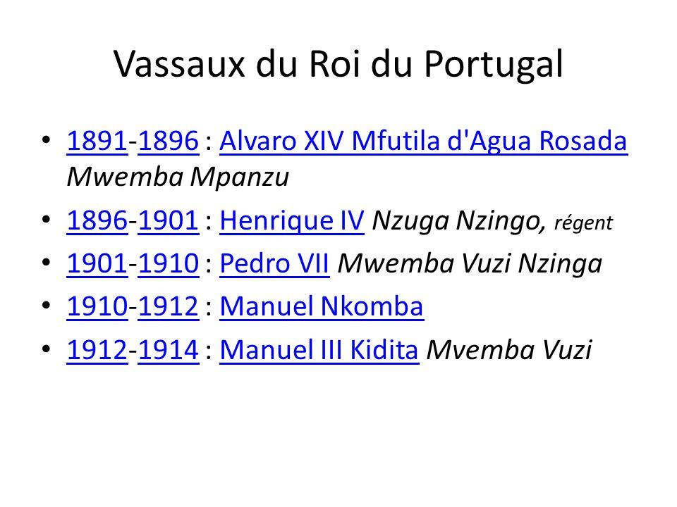 Vassaux du Roi du Portugal