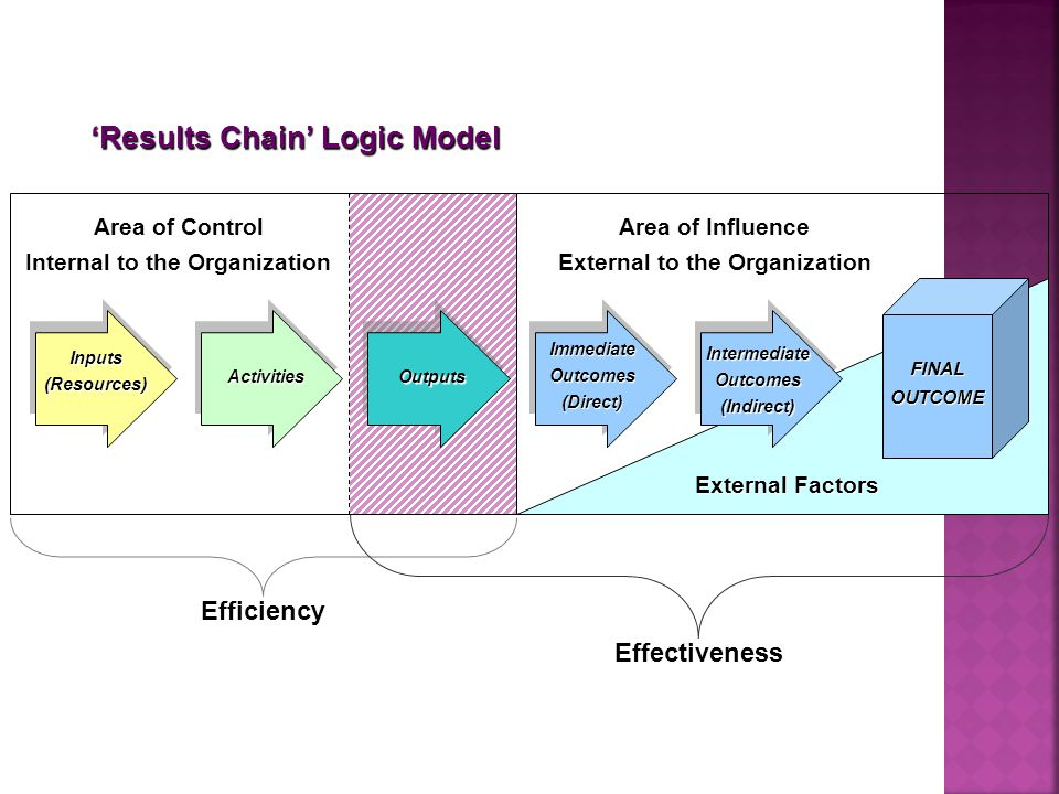 'Results Chain' Logic Model