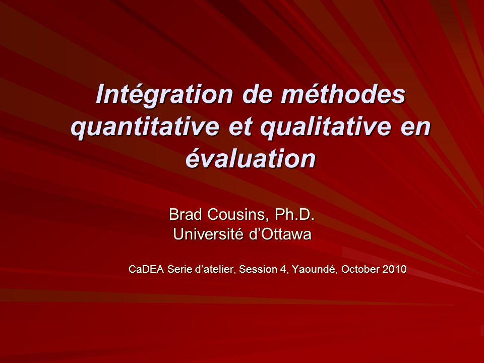 Intégration de méthodes quantitative et qualitative en évaluation