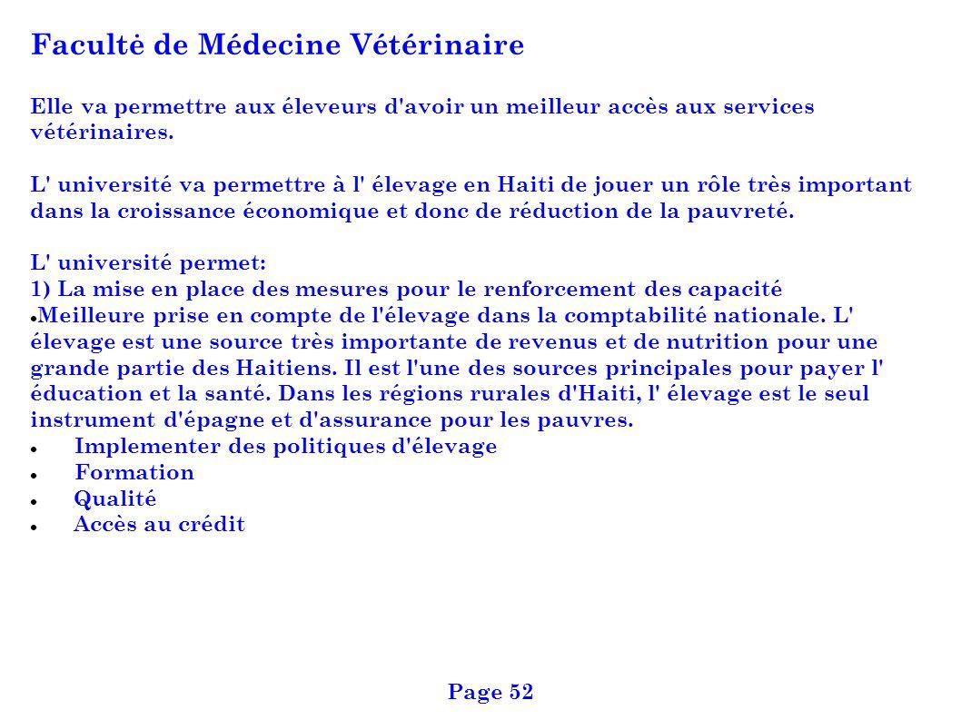 Facultė de Médecine Vétérinaire