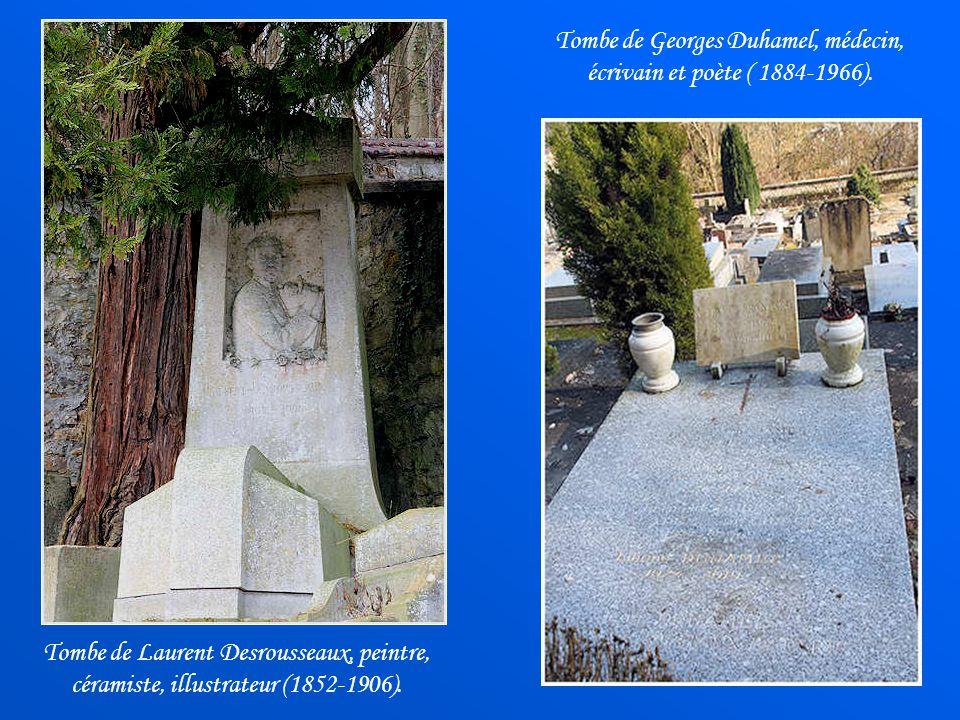 Tombe de Georges Duhamel, médecin, écrivain et poète ( 1884-1966).
