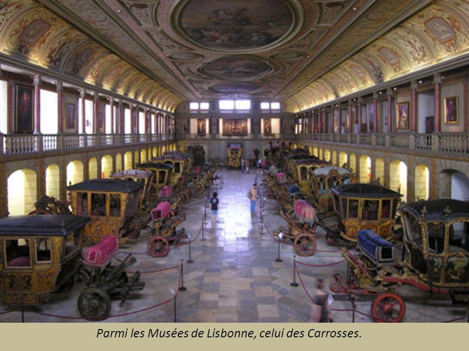 Parmi les Musées de Lisbonne, celui des Carrosses.