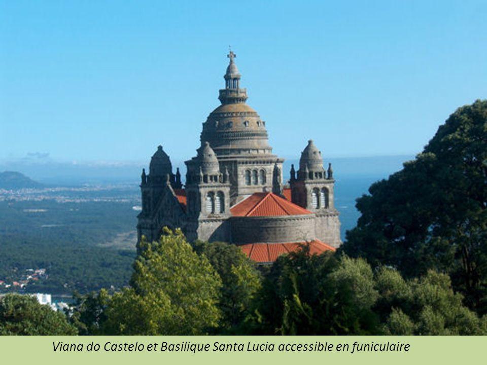 Viana do Castelo et Basilique Santa Lucia accessible en funiculaire