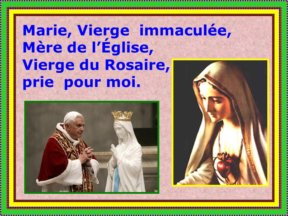 Marie, Vierge immaculée, Mère de l'Église, Vierge du Rosaire,
