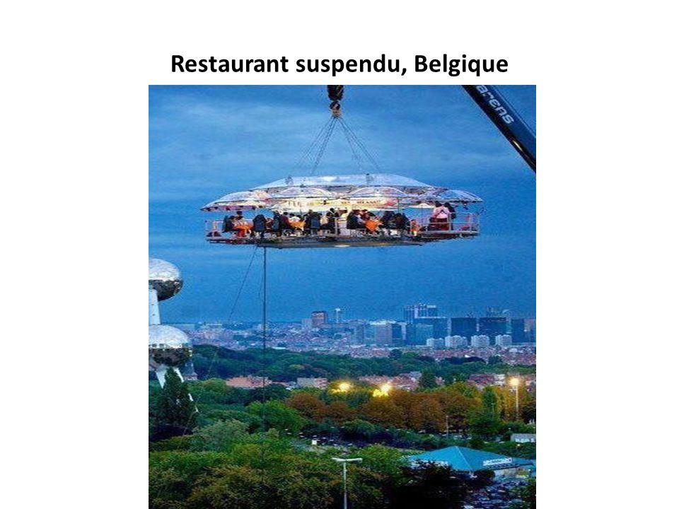 Restaurant suspendu, Belgique