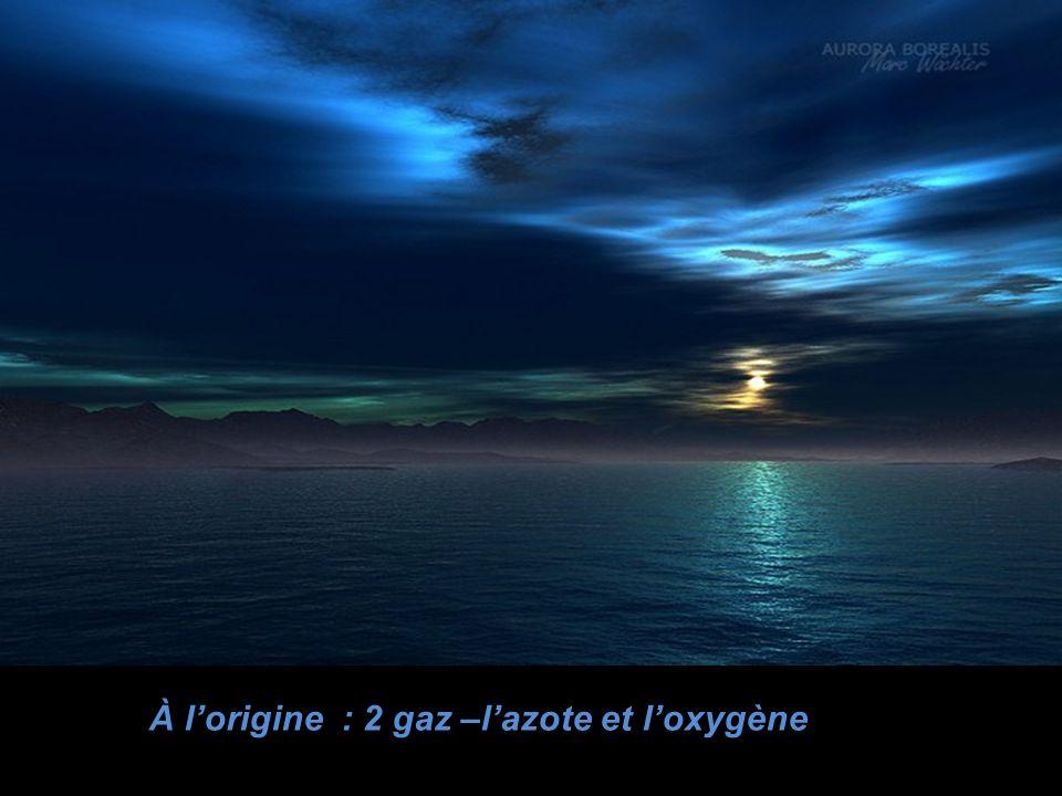 À l'origine : 2 gaz –l'azote et l'oxygène