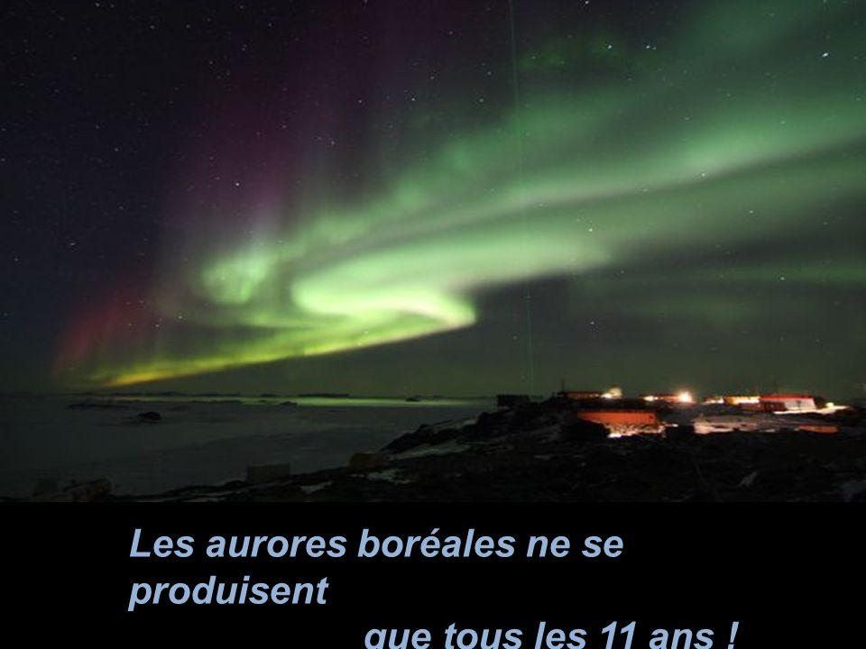 Les aurores boréales ne se produisent