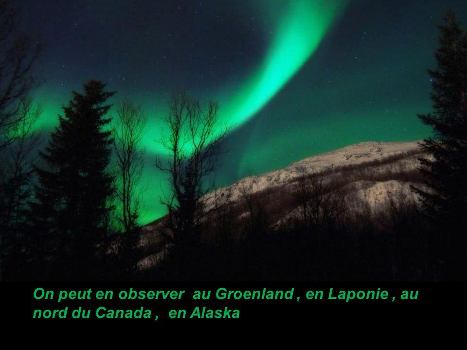 On peut en observer au Groenland , en Laponie , au nord du Canada , en Alaska