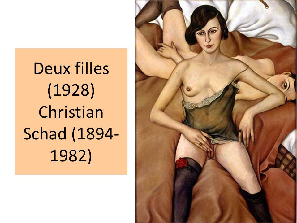 Deux filles (1928) Christian Schad (1894-1982)