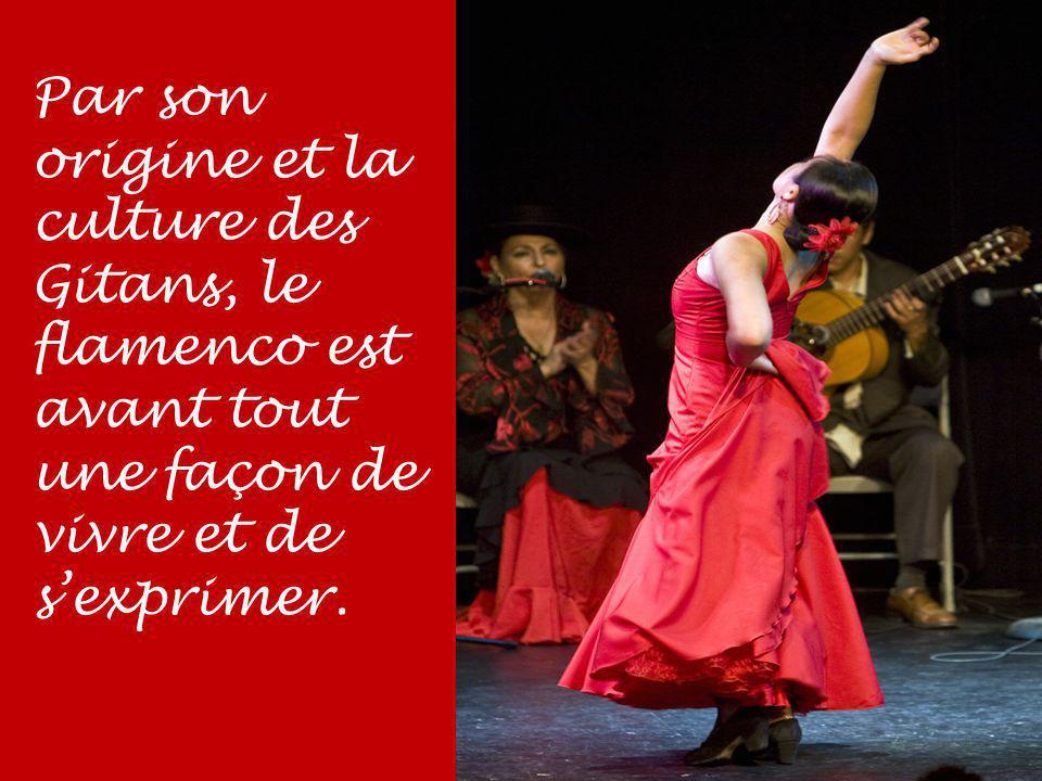 Par son origine et la culture des Gitans, le flamenco est avant tout une façon de vivre et de s'exprimer.