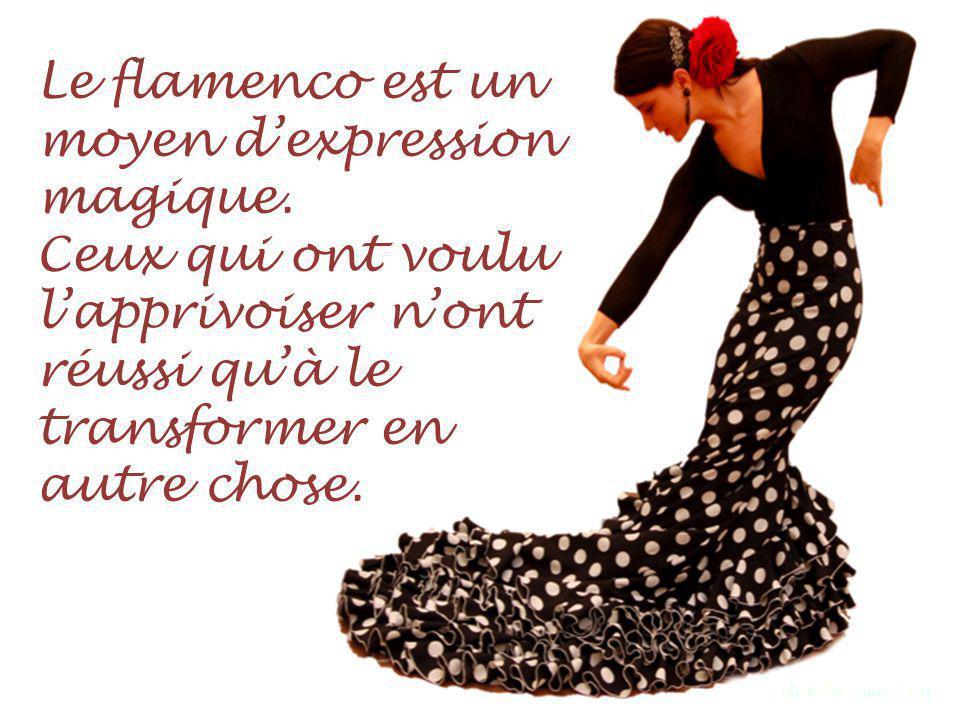 Le flamenco est un moyen d'expression magique.