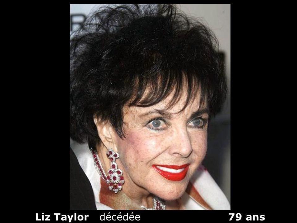 Liz Taylor décédée 79 ans