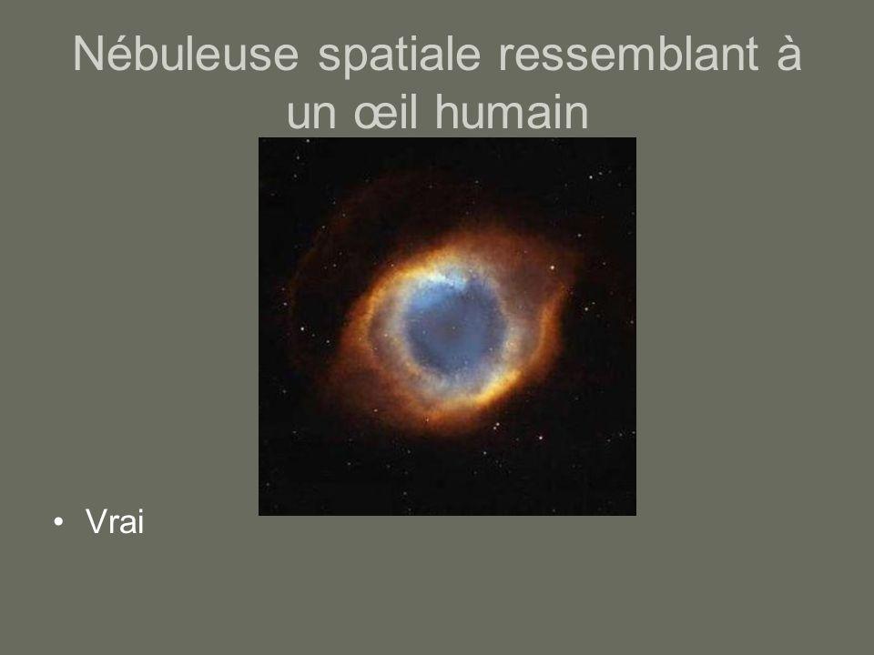 Nébuleuse spatiale ressemblant à un œil humain