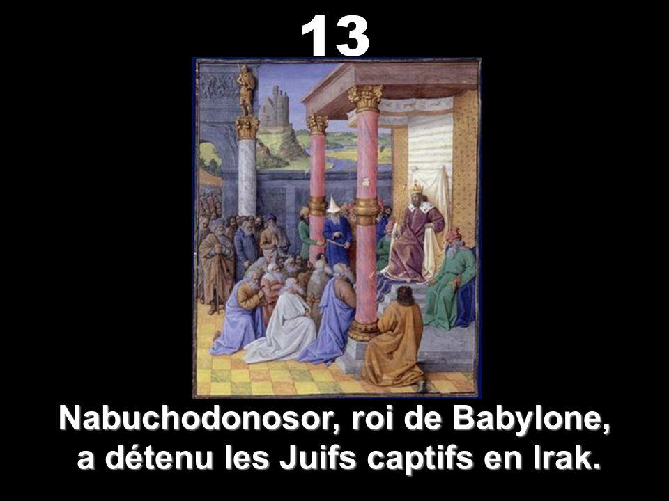 Nabuchodonosor, roi de Babylone, a détenu les Juifs captifs en Irak.
