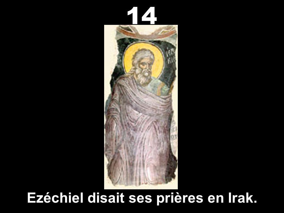 Ezéchiel disait ses prières en Irak.