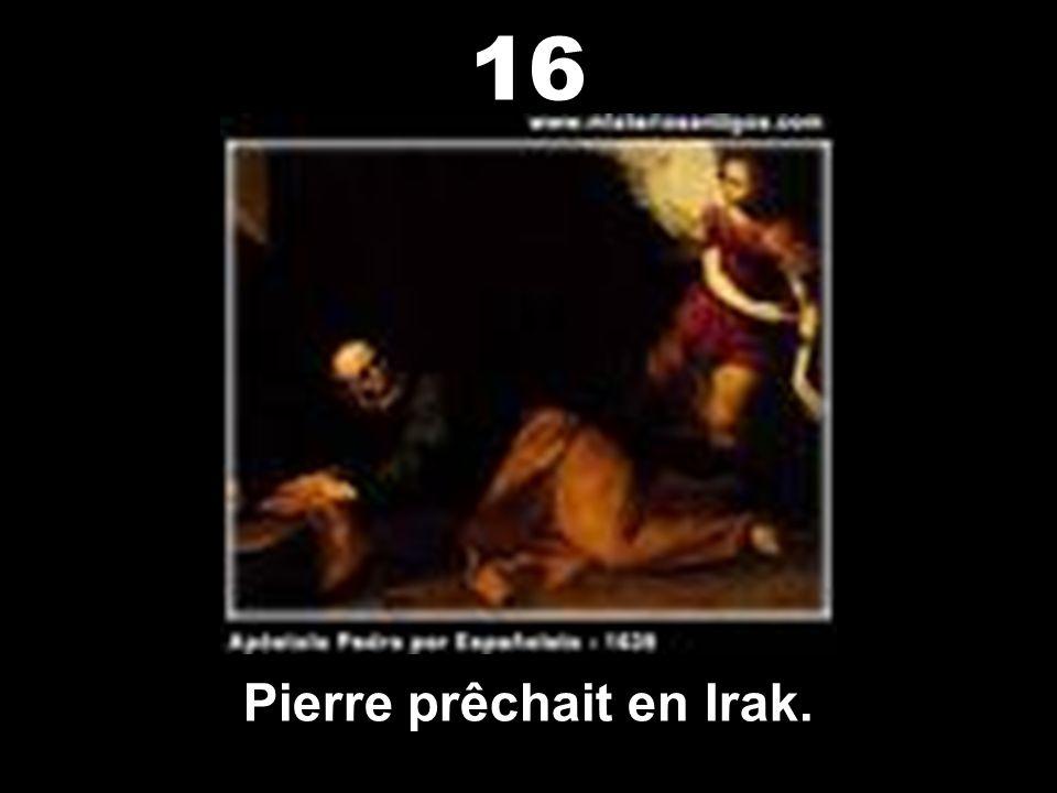 Pierre prêchait en Irak.