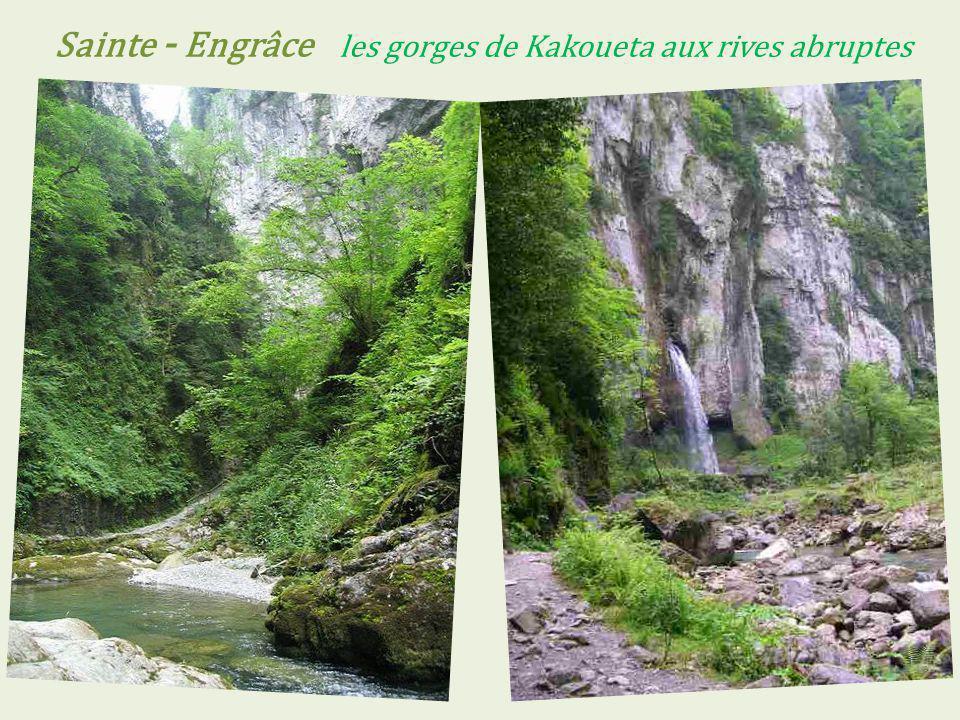 Sainte - Engrâce les gorges de Kakoueta aux rives abruptes