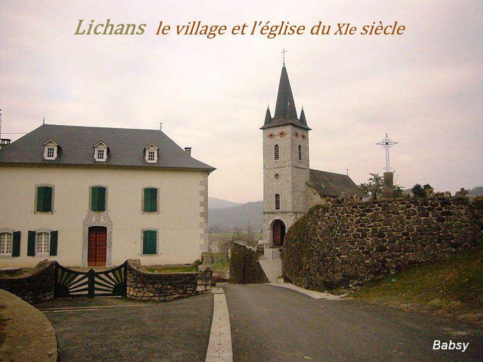 Lichans le village et l'église du XIe siècle