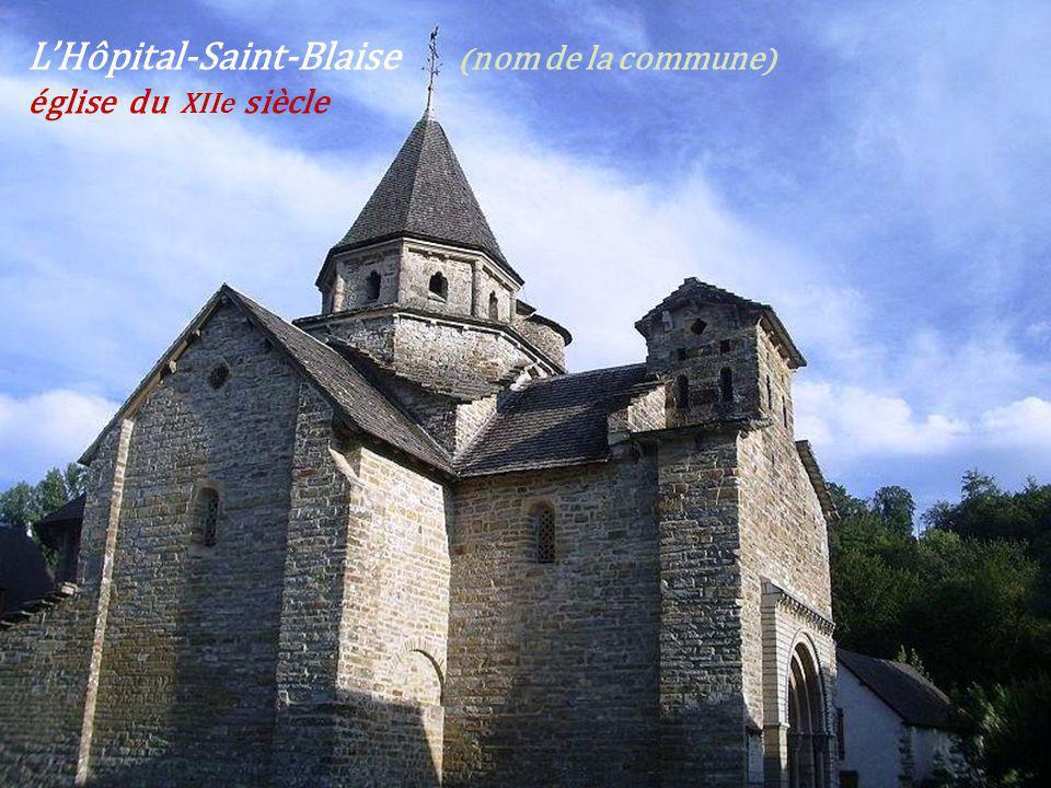 L'Hôpital-Saint-Blaise (nom de la commune) église du XIIe siècle