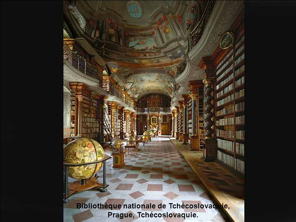 Bibliothèque nationale de Tchécoslovaquie, Prague, Tchécoslovaquie.