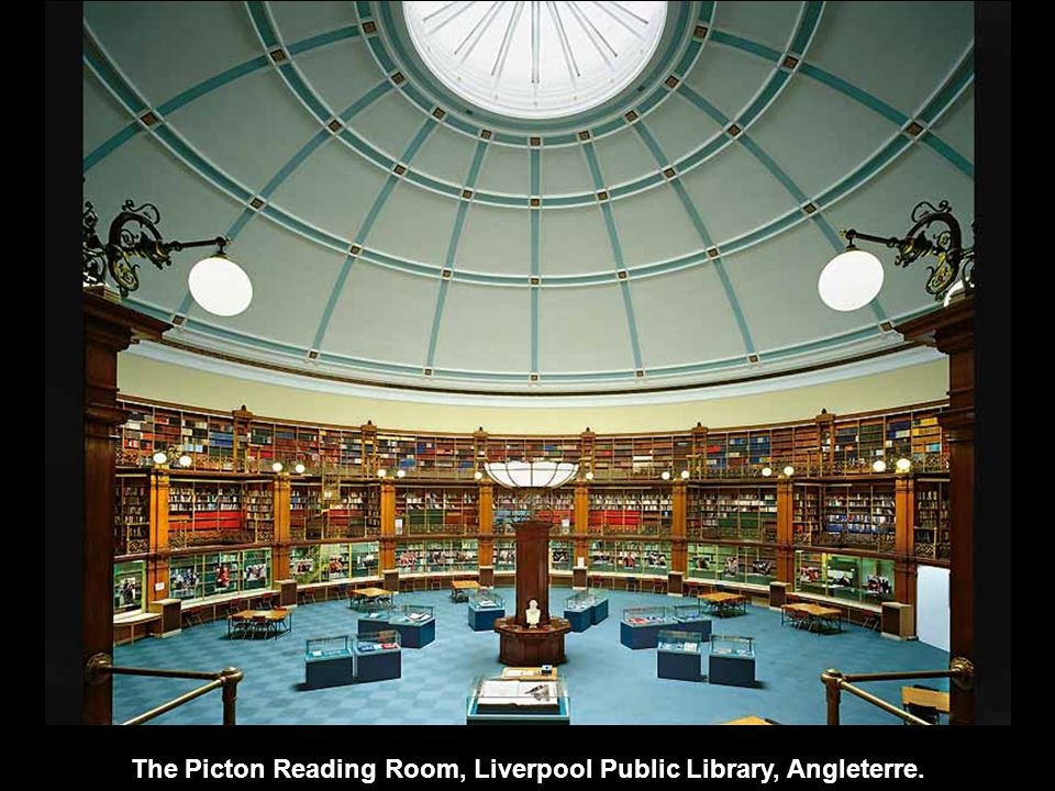 The Picton Reading Room, Liverpool Public Library, Angleterre.