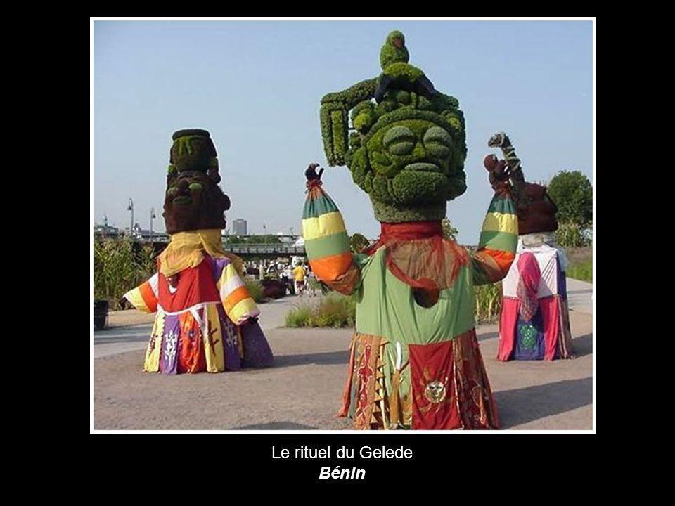 Le rituel du Gelede Bénin